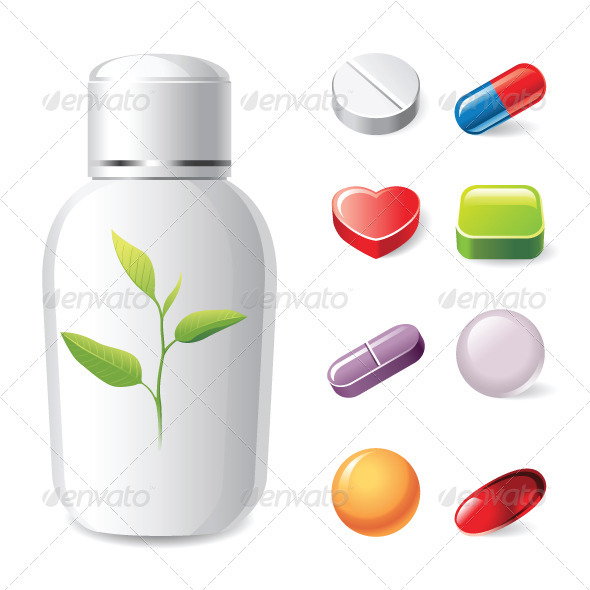 GraphicRiver Pills Icons 4008844