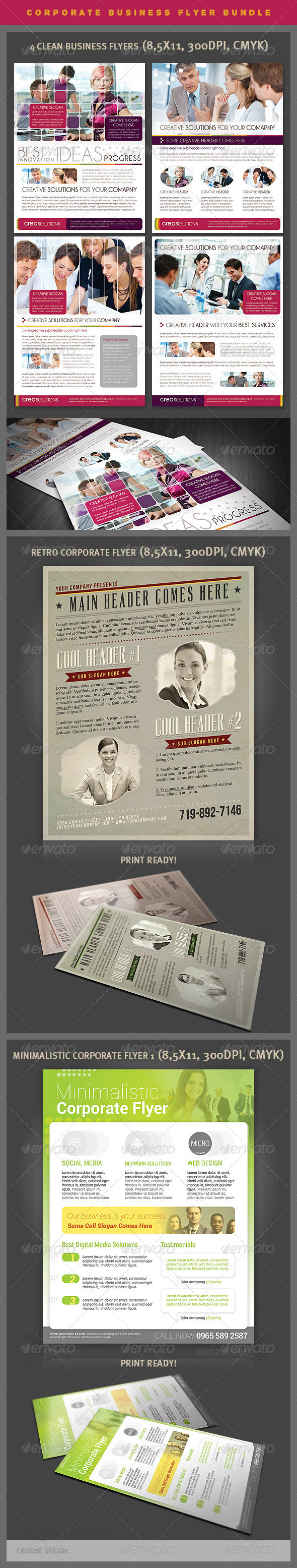 GraphicRiver Corporate Business Flyers Bundle 4009270