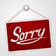 Sorry Storefront Sign - GraphicRiver Item for Sale