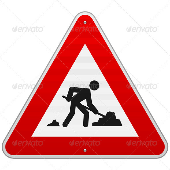 GraphicRiver Construction Road Sign 4011155