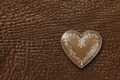 Heart on leather background - PhotoDune Item for Sale