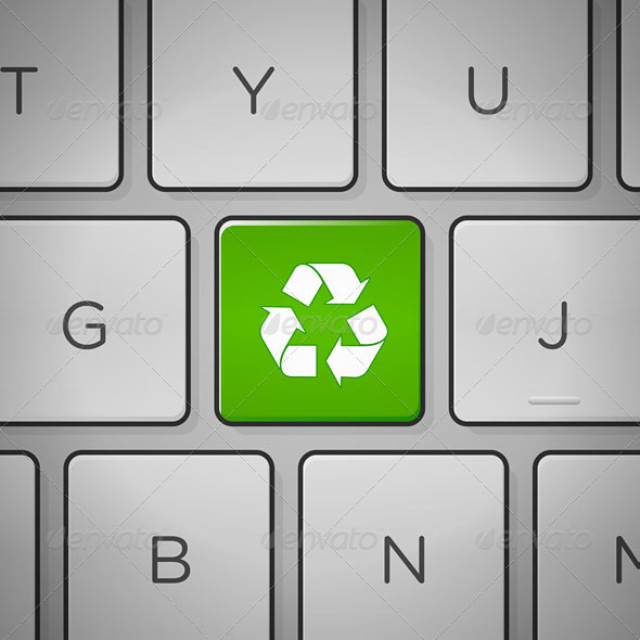 GraphicRiver Recycle Sign Keyboard 4011773