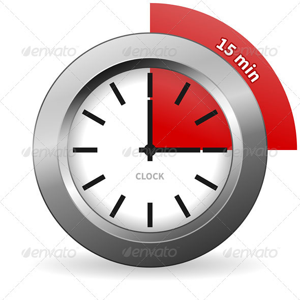 GraphicRiver Clock 15 Minutes To Go 4011842