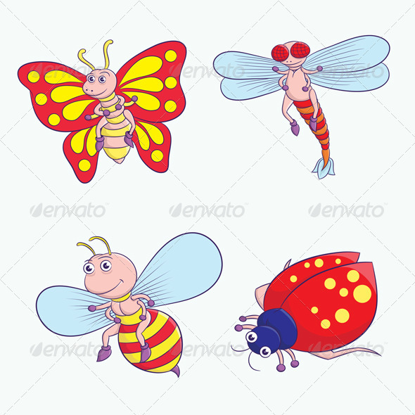 GraphicRiver Insect Cartoon 4014745