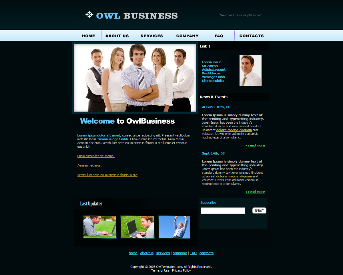 Corporate busines website template