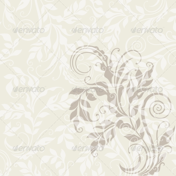GraphicRiver EPS10 Decorative Floral Background 4016149