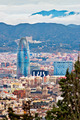 Aerial view of Barcelona with the Montseny Mountain in the backg - PhotoDune Item for Sale