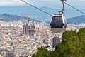 Cablecar in Barcelona with the city in the Background - PhotoDune Item for Sale