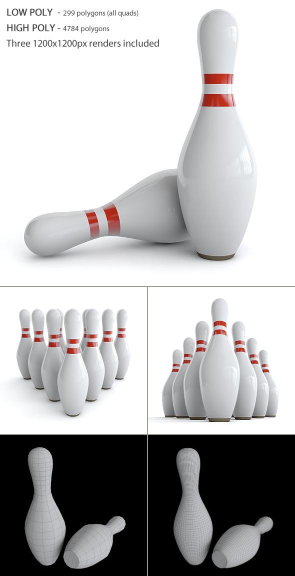 3DOcean Bowling Pin 4017258
