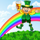 Vector Leprechaun with a Glass of Beer - GraphicRiver Item for Sale