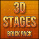 3D Stages (Brick Pack) - GraphicRiver Item for Sale