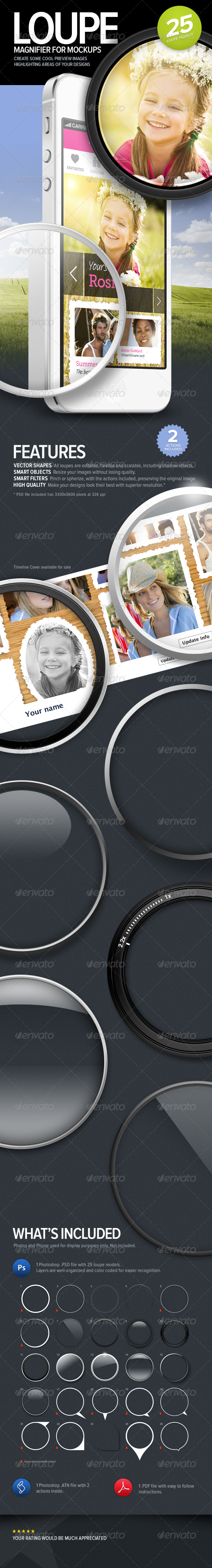 GraphicRiver Loupe Magnifying Glass for Mock-ups 4019585