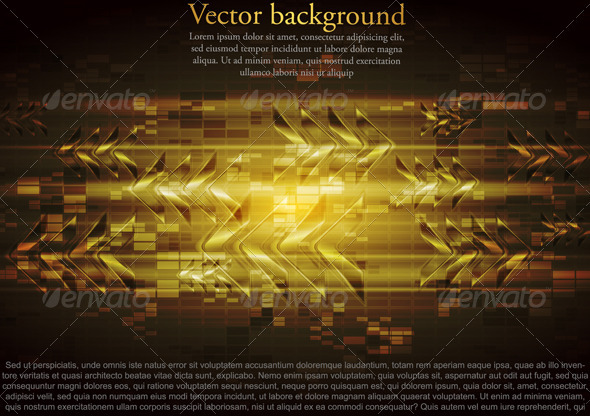GraphicRiver Vector yellow tech design with abstract glossy arr 4020098