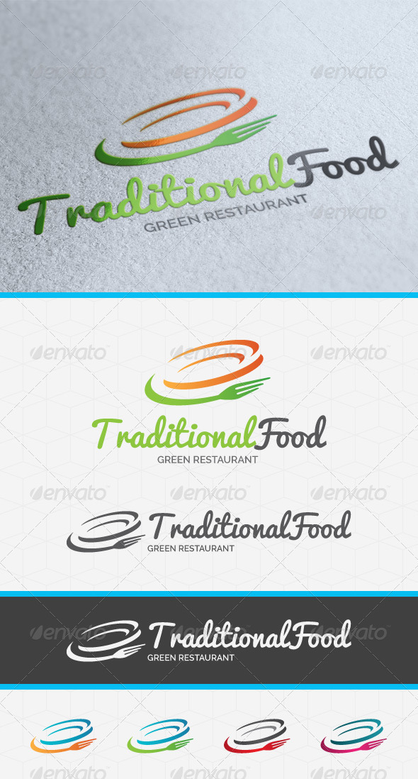 Traditional Food Logo Template - Food Logo Templates