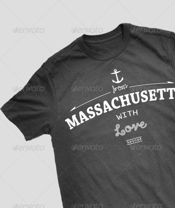 GraphicRiver Massachusetts T-Shirt Design 3893995