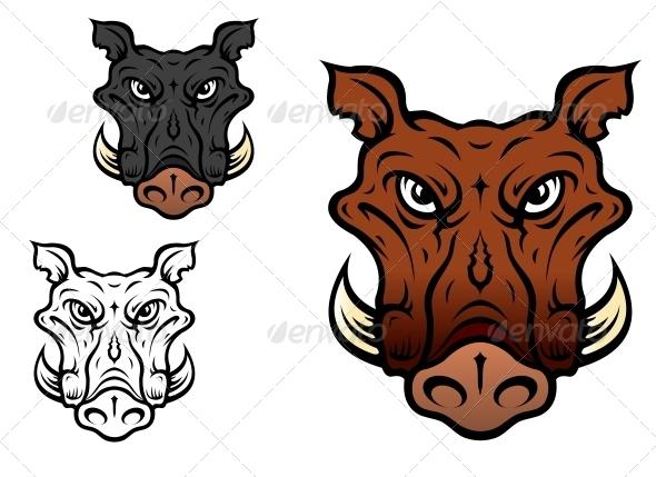 GraphicRiver Wild boar or hog 4022871