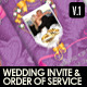 Wedding Items - Programme Sheet & Order of Service - GraphicRiver Item for Sale