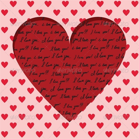 GraphicRiver Valentine card 4023641