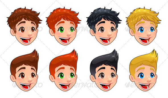 GraphicRiver Faces of boys 4023649