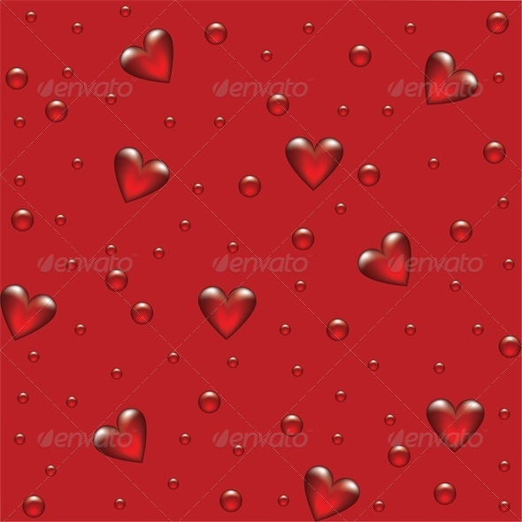 GraphicRiver red background with transparent hearted 4023711