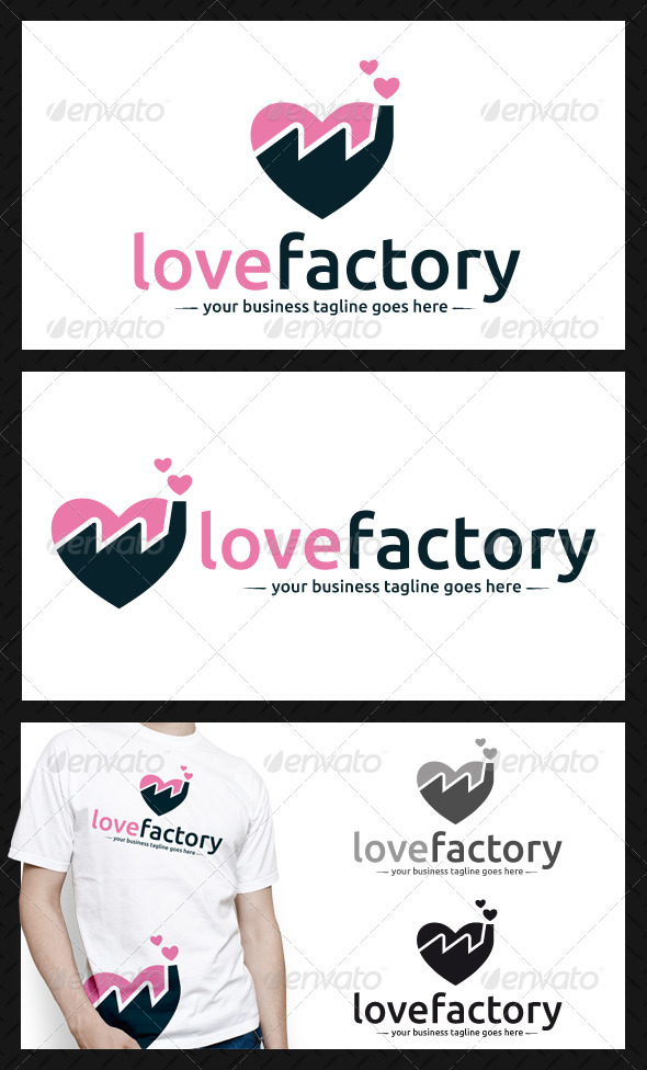 GraphicRiver Love Factory Logo Template 4023854