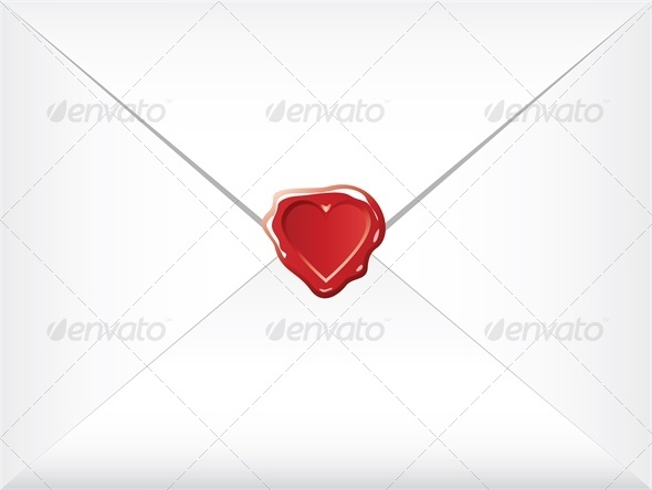 GraphicRiver wax shaped heart sealed envelopes 4024285