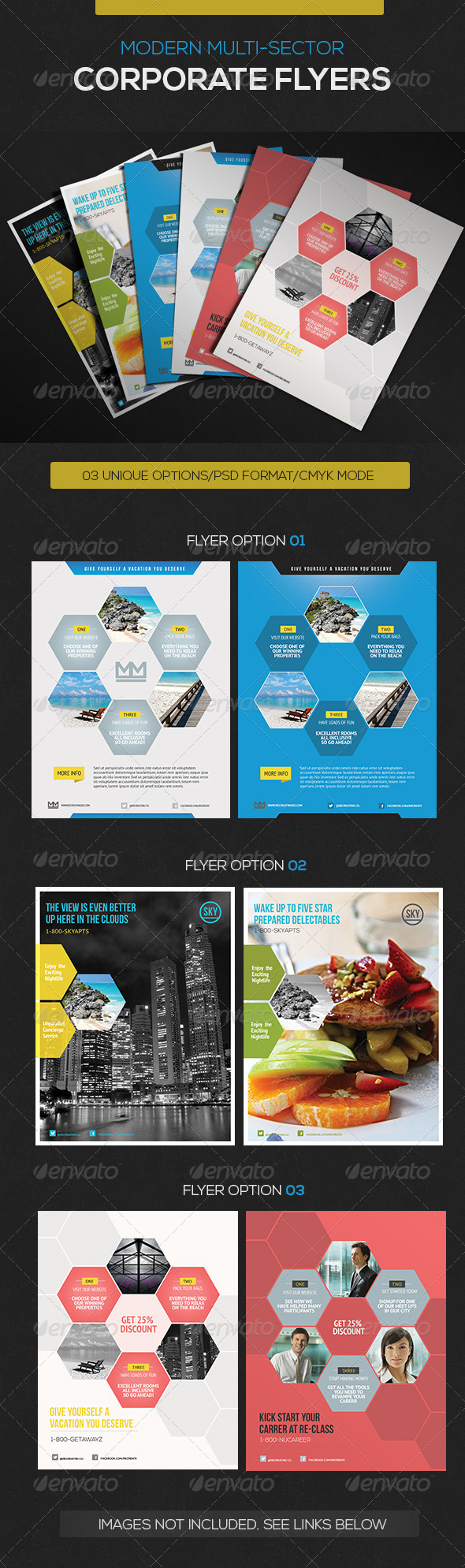 GraphicRiver Business Hexa Flyer 4024406