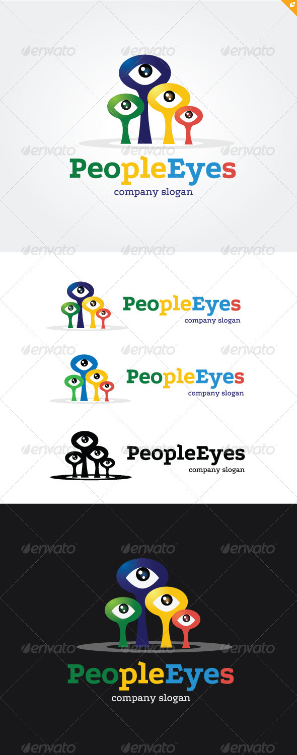 GraphicRiver People Eyes Logo 3718140