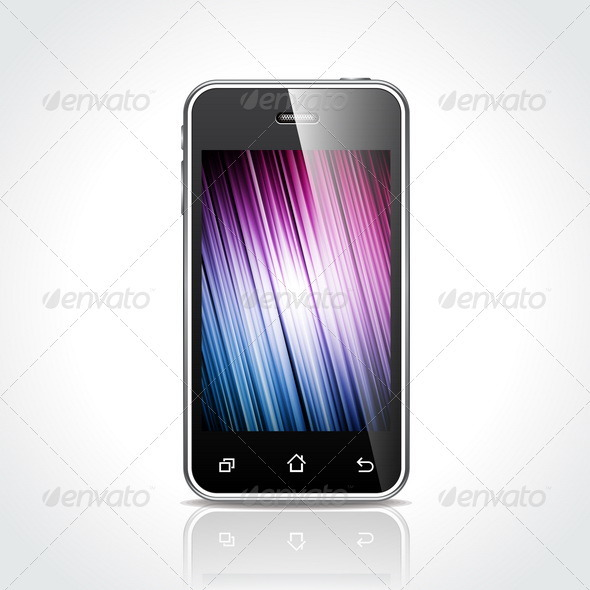 GraphicRiver Shiny Touch Screen Mobile Phone Devices 4026262