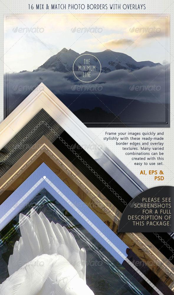 GraphicRiver Photo Borders & Overlays Set; Minimal Style 4026966