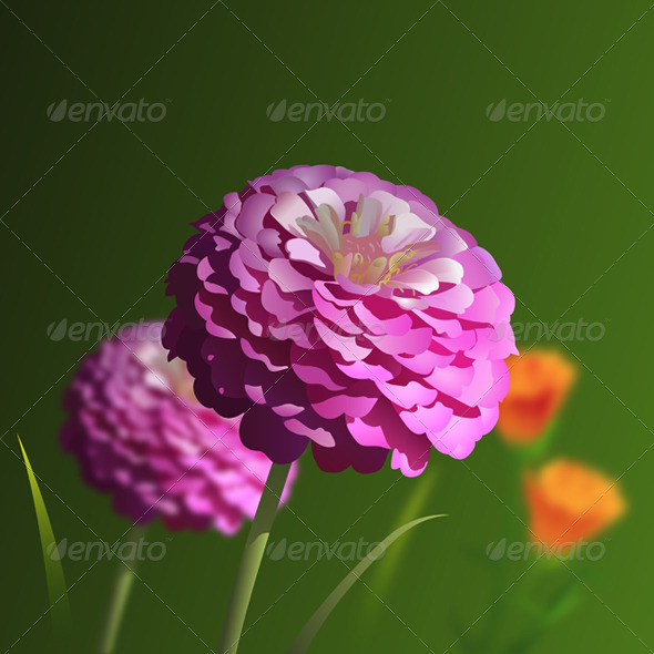 GraphicRiver Pink Flower 4027091