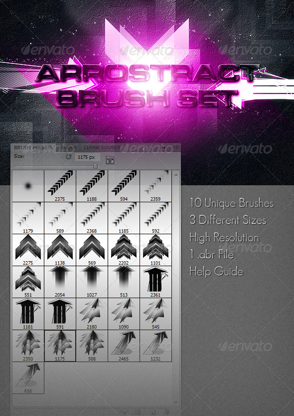Arrostract Brush Set - Abstract Brushes