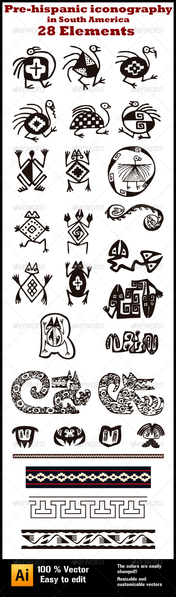 GraphicRiver Pre-hispanic Iconography in South-America 4027130