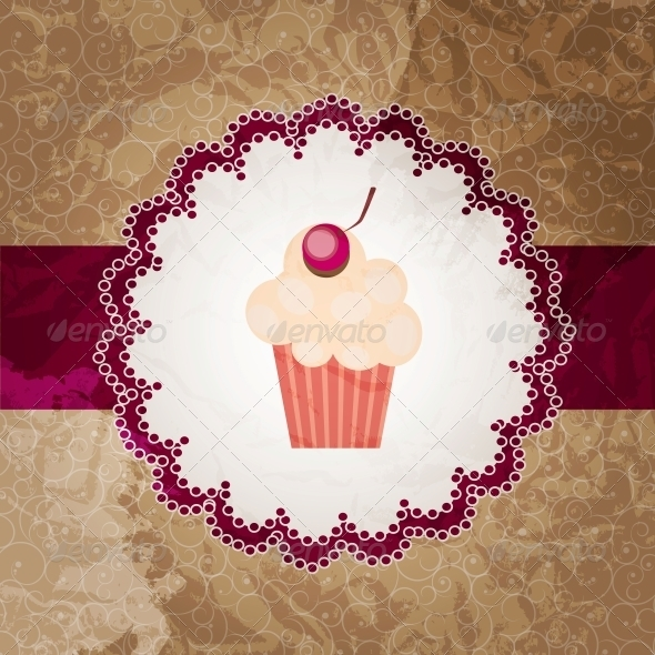 GraphicRiver cupcake invitation background 4027887
