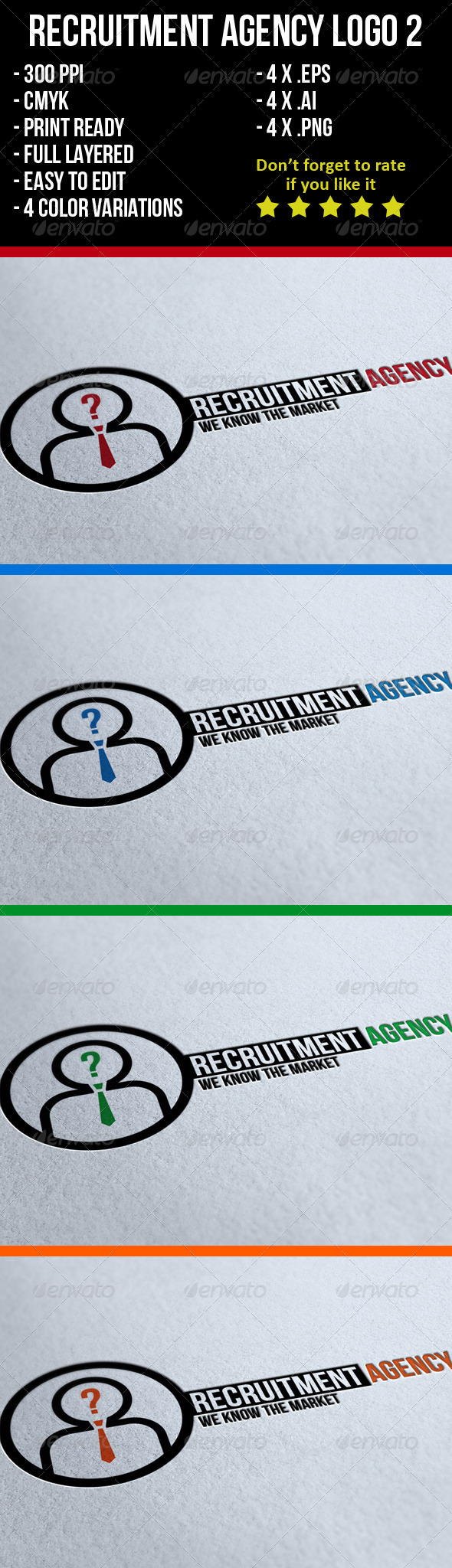 GraphicRiver Recruitment Agency Logo 2 3895735