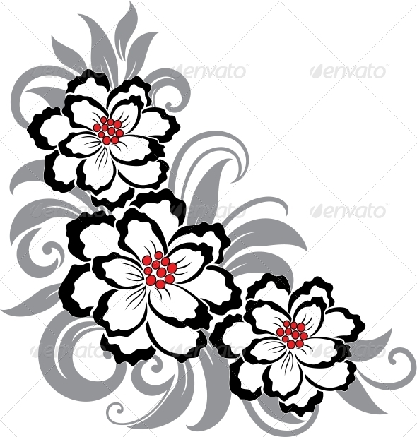 GraphicRiver Decorative floral illustration 4027950