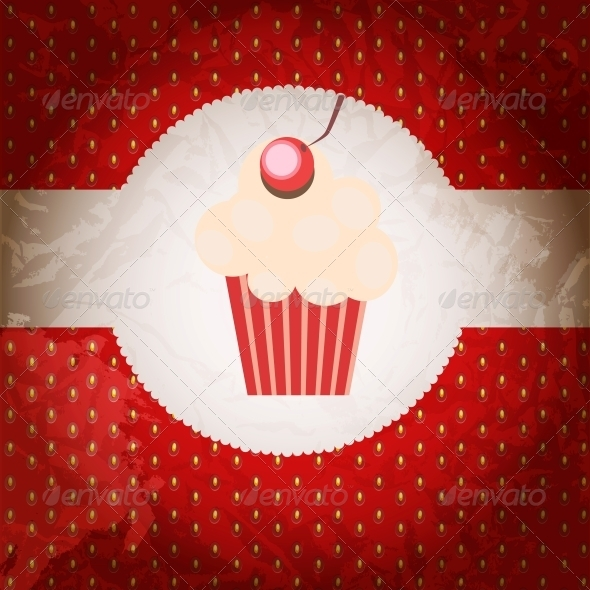 GraphicRiver cupcake invitation background 4027959