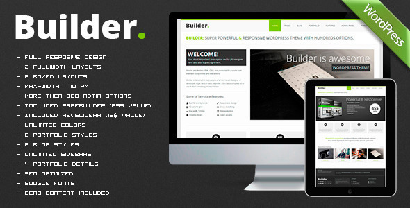 BUILDER - Responsive Multi-Purpose Theme - Business Corporate