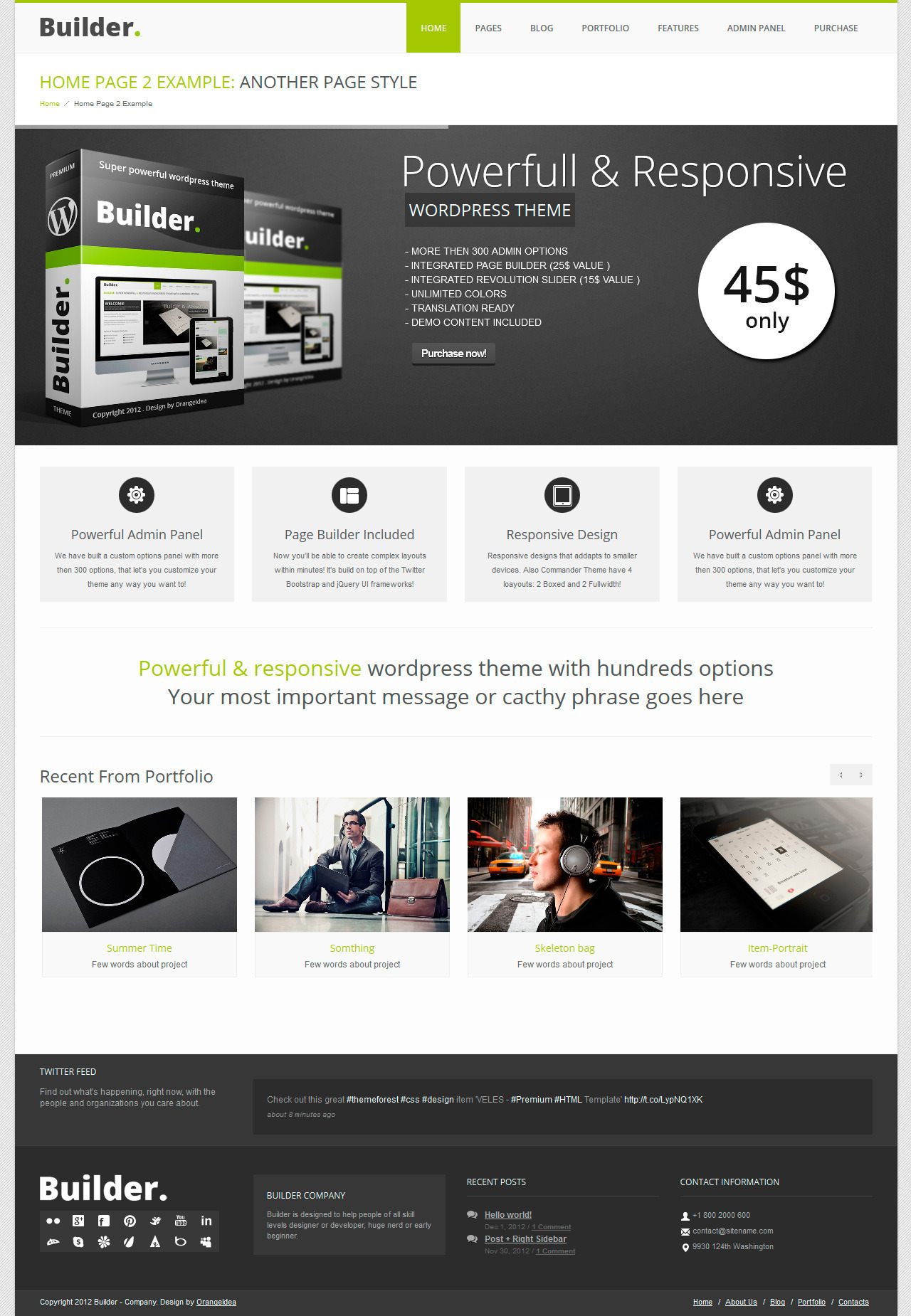 BUILDER - Responsive Multi-Purpose Theme