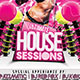 Ultimate House Sessions A3 Poster and A6 Flyer - GraphicRiver Item for Sale