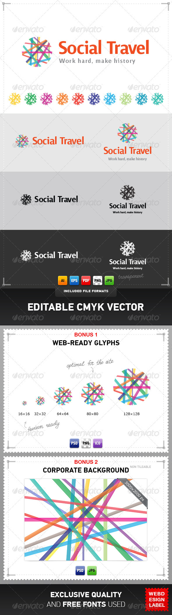 GraphicRiver Social Travel Logo 4028703