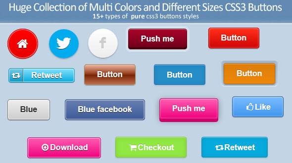 CodeCanyon Huge Collection of Pure CSS3 Buttons 3995499