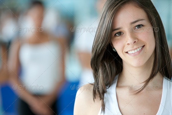 Gym woman portrait - Stock Photo - Images