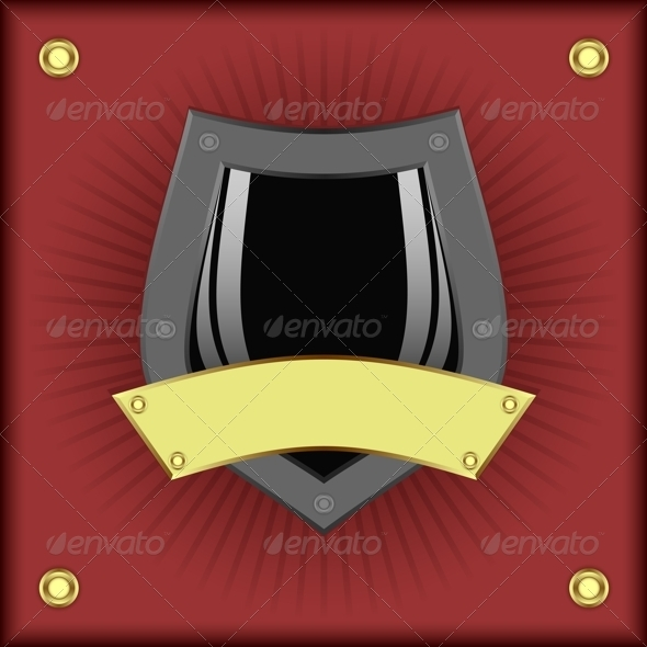 GraphicRiver Shield on a Red Background 4030752
