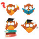 Intelligent Owl Set - GraphicRiver Item for Sale