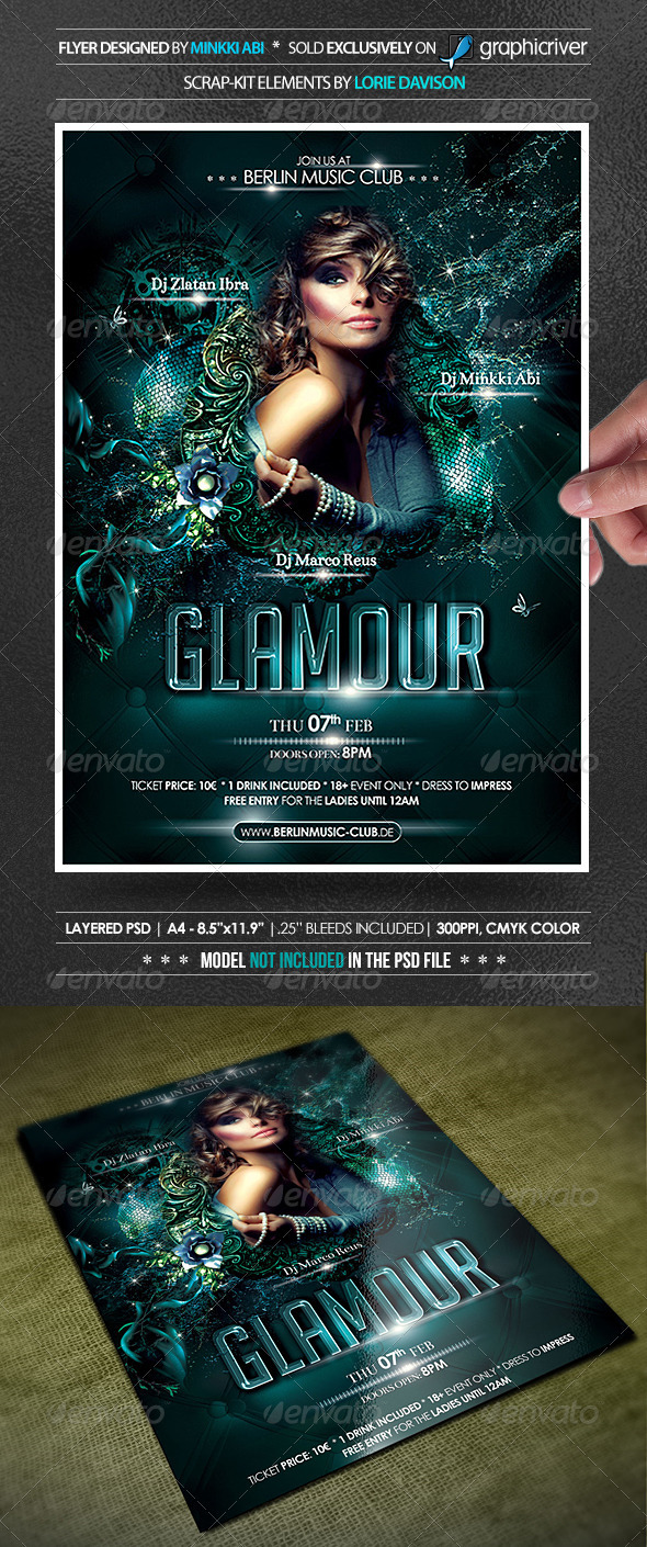 Glamour Party Poster/Flyer - Events Flyers