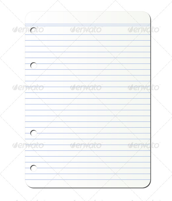 PhotoDune lined page from ring notepad 4082547