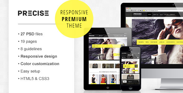 ThemeForest Precise premium PSD e-commerce template 4033574
