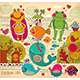 Vector Cartoon Illustration with Happy Frogs - GraphicRiver Item for Sale