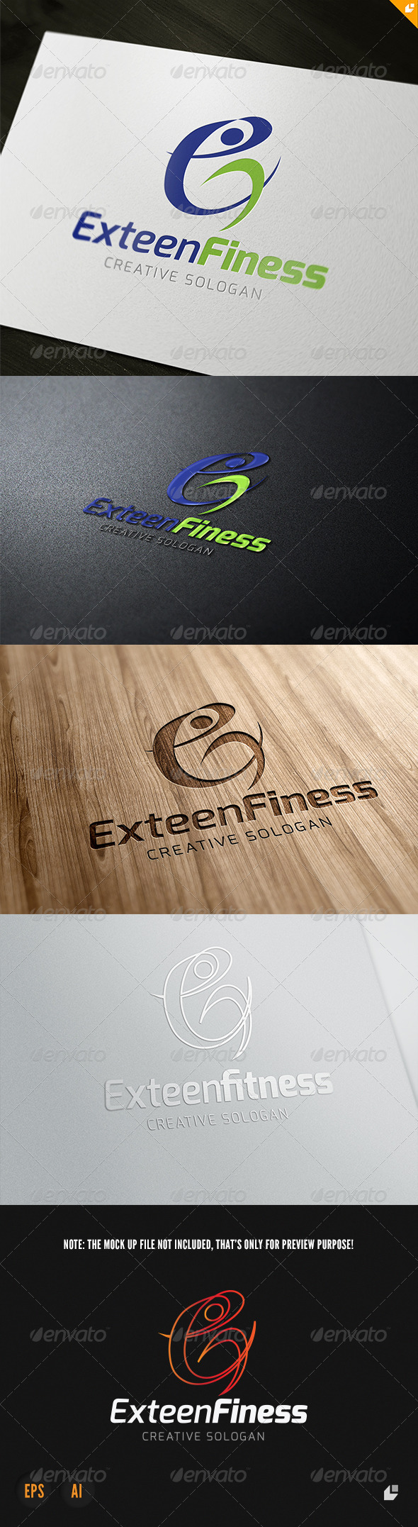 GraphicRiver Exteen Fitness Logo 3901586